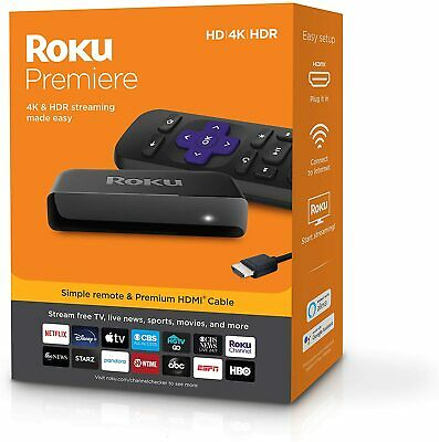 AU92.99 • Buy 2020 Roku Premiere Ultra HD 4K Streaming Media Player Stick AU Stock