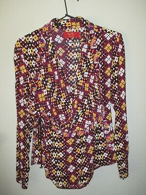 AU22.50 • Buy Gorgeous Tigerlily Sz 10 Illarian Print Wrap Jacket