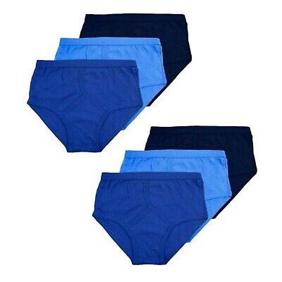 3 Pairs Men's Y Fronts Traditional 100% Soft Cotton Underwear Briefs Pants Blue • 6.95£