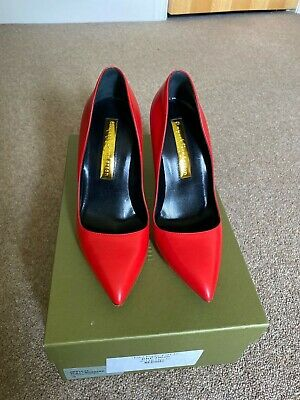 Rupert Sanderson Heels Shoes In Red, Size 36. Beautiful, Most Comfortable! • 65£