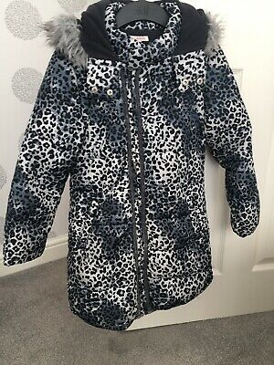 Girls Blue Zoo Warm Quilted Coat Age 7-8 • 1.20£