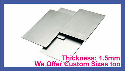 MILD STEEL SHEET METAL SQUARE PLATE 1.5mm THICK CUT 8 SIZES Guillotine Cut • 3.25£