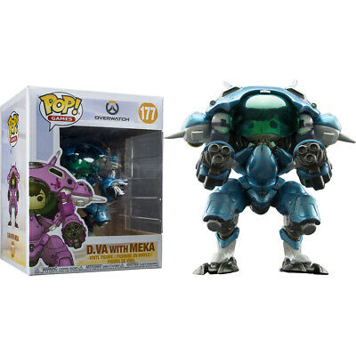 AU39.99 • Buy Overwatch D.Va With Meka Blueberry 6  #177 - New Funko POP! Vinyl Figure