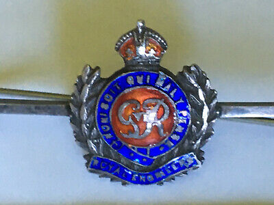 WW2 Royal Engineers Sweetheart Brooch, Silver And Enamel, By Hallam, VGC (459) • 6.75£