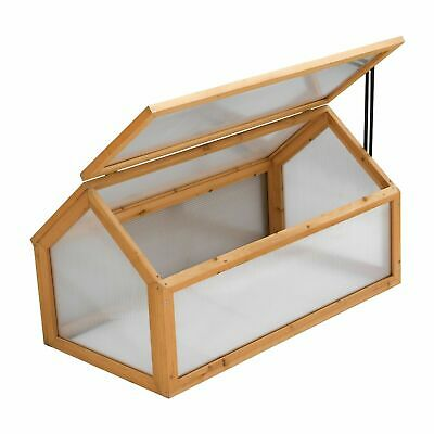 Garden Grow Polycarbonate Wooden Cold Frame Greenhouse Outdoor Planting Shelter • 34.33£