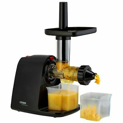 Cooks Professional 150W Masticating Slow Juicer Cold Press Fruit & Veg Extractor • 26£