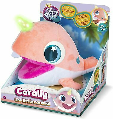 Club Petz Corally Little Baby Narwhal Horn Lights Up 10 Sounds Brand New  • 14.51£