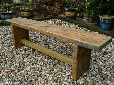 Reclaimed Scaffold Board Rustic Simple Wood Bench • 89£