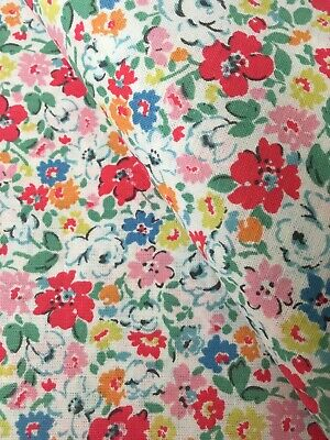 25cm Long X 152cm Wide Cath Kidston Ditsy Mews Haberdashery Fabric Cotton New • 10.09£