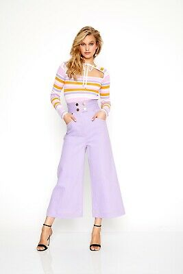 AU100 • Buy Alice Mccall Pants, Denim, Lilac, Size 8, New Without Tags
