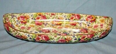 $ CDN53.44 • Buy Vintage Royal Winton Grimwades SUMMERTIME Chintz  Canoe Shaped Relish Tray