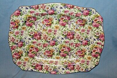 $ CDN40.08 • Buy Vintage Royal Winton Grimwades SUMMERTIME Chintz  Small Rectangular Platter Tray