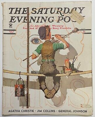 $ CDN13.41 • Buy Saturday Evening Post Norman Rockwell Cover 1935 February 9