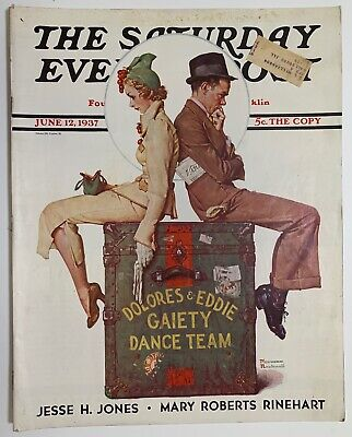 $ CDN13.41 • Buy Saturday Evening Post Norman Rockwell Cover 1937 June 12  Lefty Grove