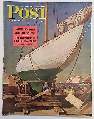 $ CDN13.41 • Buy Saturday Evening Post Norman Rockwell 1946 May 25   Article About Rockwell