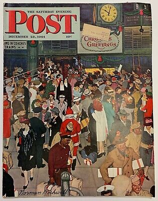 $ CDN13.41 • Buy Saturday Evening Post Norman Rockwell Cover 1944 December 23    Christmas