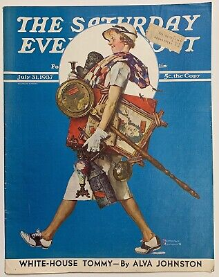 $ CDN14.08 • Buy Saturday Evening Post Norman Rockwell 1937/7/31 At The Auction Found Treasure