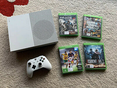 AU285 • Buy Microsoft Xbox One S 500 GB White Console And 4 Games One Controller As New