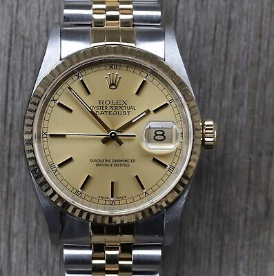 $ CDN7833.44 • Buy Rolex Oyster Perpetual Datejust Steel/Gold 36mm I-Serial 16233 - 2001