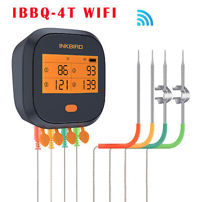 AU95 • Buy 【Second Hand But Works Well】Inkbird BBQ Thermometer IBT-4T WIFI Rechargeable