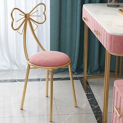AU75.93 • Buy 2PC Luxury Makeup Stool Chair Seat Soft Cushioned Fr Bedroom Dining Room Terrace