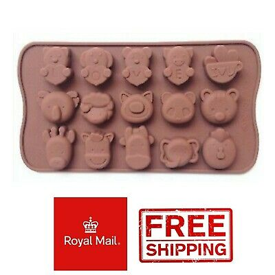 Animal Faces Silicone Mould Wax Melts Ice Chocolates Jelly Mold Chocolate • 2.89£