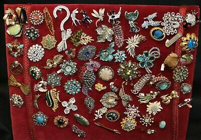 £12.50 • Buy Vintage Costume Jewellery Brooches Various Shapes - Large Selection - JJ
