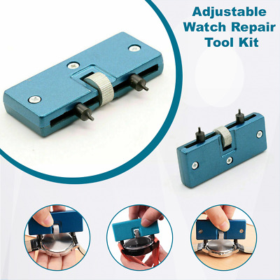 $ CDN7.04 • Buy Adjustable Watch Repair Tool Kit Back Case Opener Cover Remover Screw Wrench