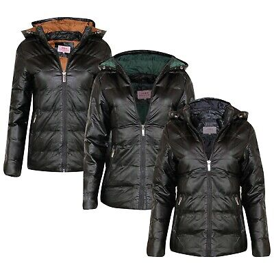 New Womens Ladies BLACK Quilted Winter Designer Coat Puffer Hooded Jacket Parka  • 14.99£