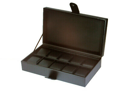 £28.25 • Buy New Large Wrist Watch Storage Box  Display Case Faux Leather 10 Pillows In Same