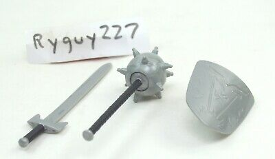 $25 • Buy MOTUC, Gray Weapons, Masters Of The Universe Classics, Mace, Shield, Sword, Part