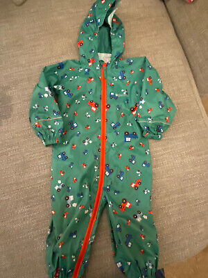 Mountain Warehouse All In One Waterproof Splash Suit With Tractors.  12-18 Mths. • 3£