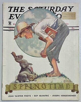 $ CDN13.41 • Buy Saturday Evening Post Norman Rockwell Cover 1935 April 27