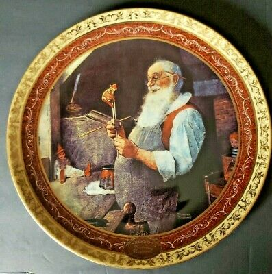 $ CDN33.32 • Buy Santa In His Workshop Norman Rockwell's Christmas Memories 2000 Collector Plate