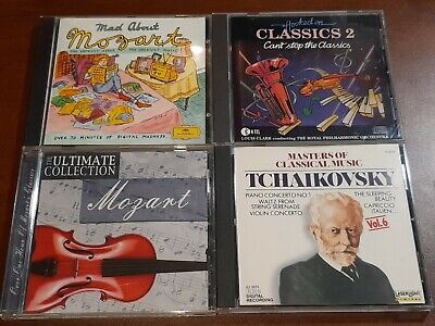 $ CDN16 • Buy Used Lot Of 4 Classical Music CDs Mozart,  Tchaikovsky,  Various Artists