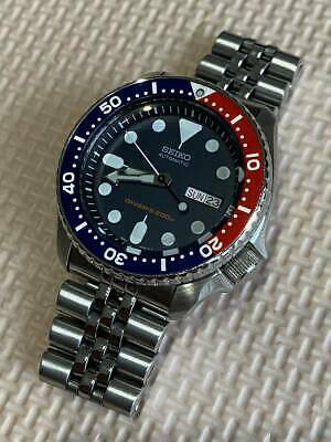 $ CDN613.36 • Buy Seiko SKX009 Day Date Divers Navy Boy Automatic Mens Watch Authentic Working