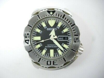 $ CDN613.36 • Buy Seiko 7S26-0350 Day Date Diver Scuba Black Monster SS Used Automatic Mens Watch