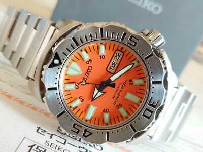 $ CDN685.37 • Buy Seiko Day Date Diver Scuba Orange Monster SS Automatic Mens Watch Auth Works