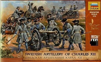 Zvezda 1/72 Swedish Artillery Of Charles Xiic (37 W/6 Horses & 5 Cannons) | 8066 • 15.43£