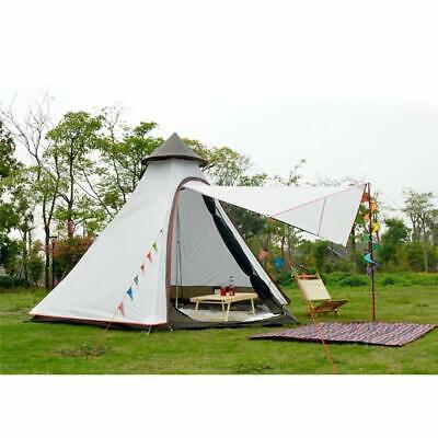 Double Layer 2 Persons Teepee Tipi Tent Yurt Family Glamping Lightweight Outdoor • 129.99£