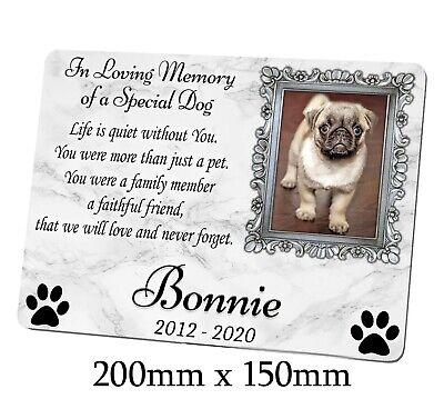 Large Memorial Metal Plaque For A Dog. Personalised With Photo. Garden, Grave • 11.99£