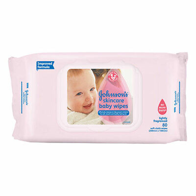AU7.49 • Buy NEW Johnson's Baby Skin Care Wipes Refill - 80 Pack