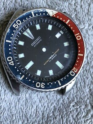 $ CDN265.35 • Buy Vintage Seiko Pepsi Diver Automatic Watch 7002-700J  Case And Dial