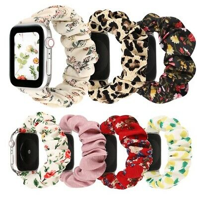 AU10.95 • Buy Scrunchie Elastic Watch Straps Watchband For Apple Watch Band Series 6 5 4 3 2 1