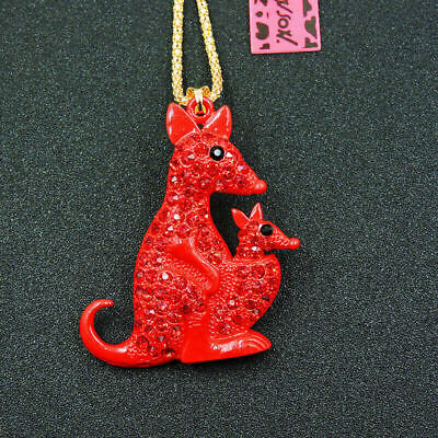 RED Kangaroo /diamante  Key Ring  Handbag Charm OR Necklace Ideal Christmas  • 4.99£