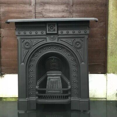 VICTORIAN/EDWARDIAN Cast Iron MEDIUM FIREPLACE (FREE DELIVERY) • 445£