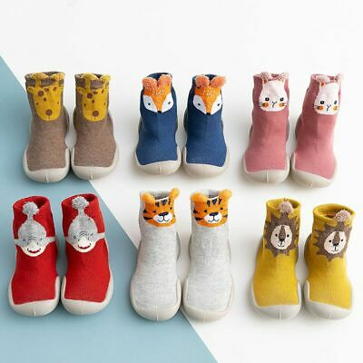 Kids Baby Girl Boys Toddler Anti-slip Slippers Socks Cotton Shoes Winter Warm UK • 6.39£