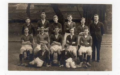 Picture Postcard Of A School Football Team, 1932-33 (JH6124) • 7£