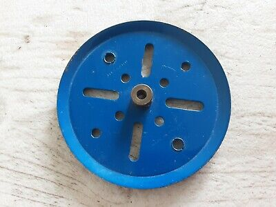 Meccano #19b 3 Pulley Blue • 1.25£