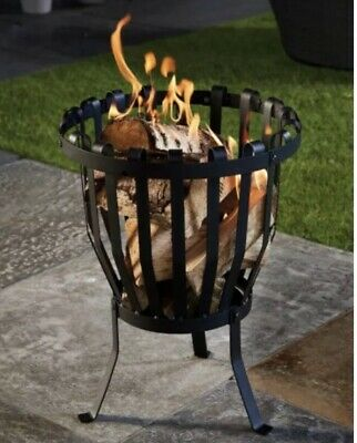 Outdoor Fire Pit Log Burner Garden Patio Heater Grill Coffee Table NEW UK STOCK • 45£